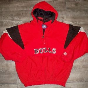 Vtg Chicago Bulls Starter Puffer Men's Jacket XL